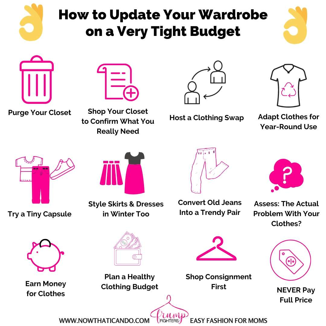 How to Change or Update Your Wardrobe on a Budget! Budget wardrobe hacks and tricks to save money on clothes