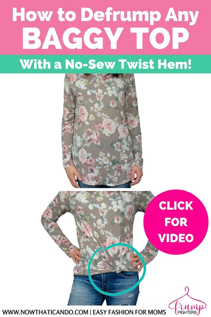 Is your shirt too big or long? Here's step-by-step how to make a twist knot on your shirt. It's an easy DIY trick with NO sewing or cutting!
