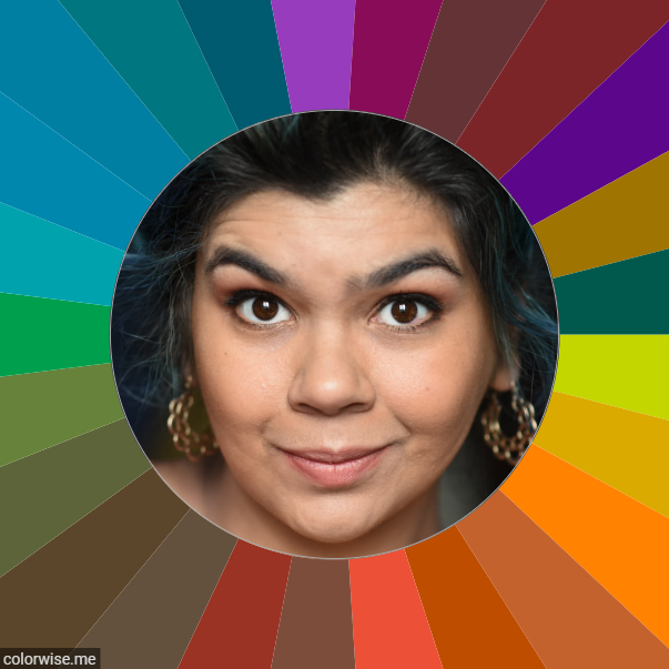 Deep Autumn Medium Skin Example - Warm & Deep Example of Seasonal Color Analysis - Best colors for warm hispanic female.