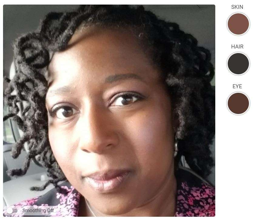 Deep Winter Woman of Color - Black Woman Cool and Deep Example of Seasonal Color Analysis.