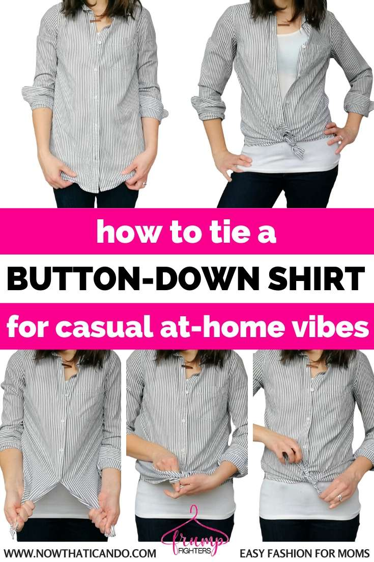 How to Tie a Knot in a Button-Down Shirt for a Casual Chic Look