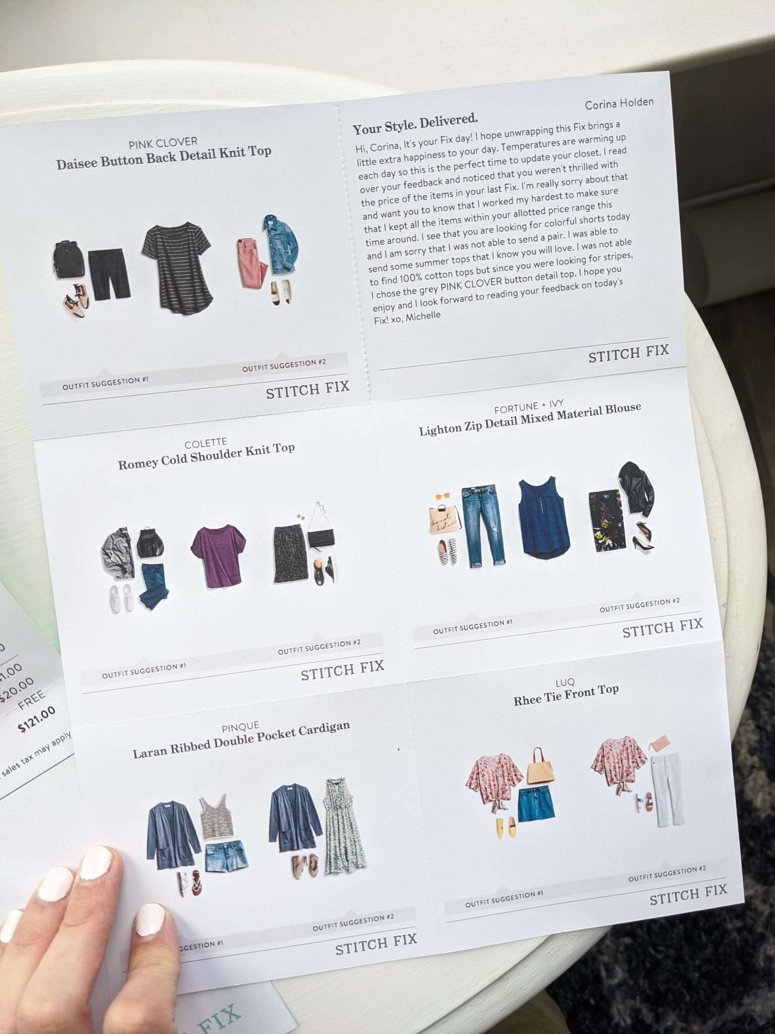 How much does stitch fix cost, what's included inside (3)