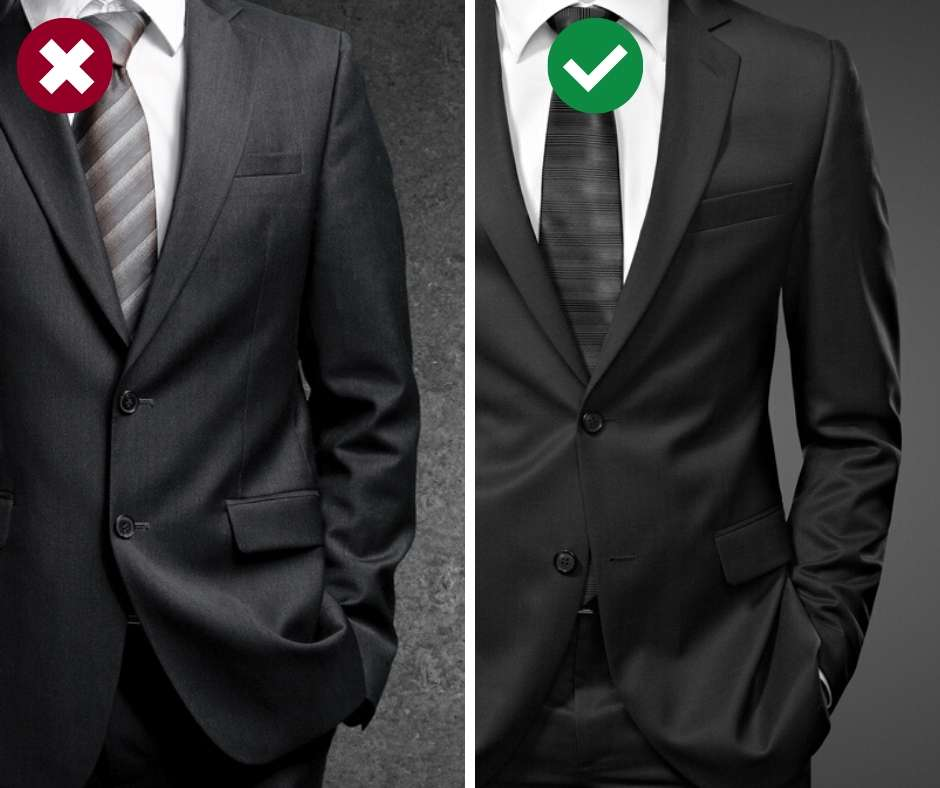 Don't fasten all suit jacket buttons. Is your man making these mistakes? In this men's style guide you'll find the 13 most common fashion mistakes guys make and what to do instead to dress nice and classy. Cool men's dressing tips that are easy to implement right away!