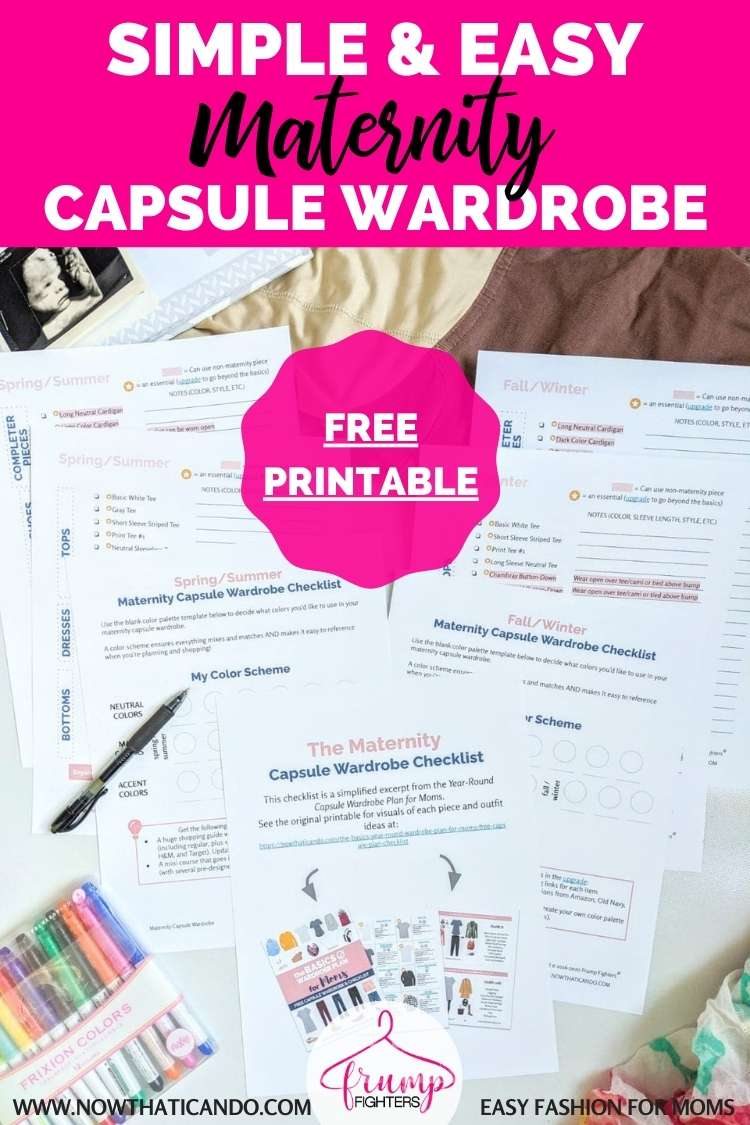 Free Checklist: Minimalist Maternity Capsule Wardrobe (for a Budget-Friendly Pregnancy)