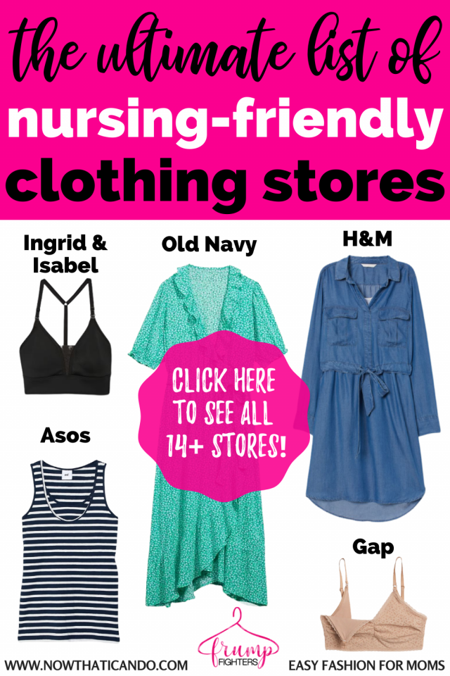 Find nursing friendly clothes no matter what your budget is. Affordable breastfeeding clothing that will make nursing feel even easier! #breastfeeding #momstyle #momlife #clothes #nursingclothes #style #fashion