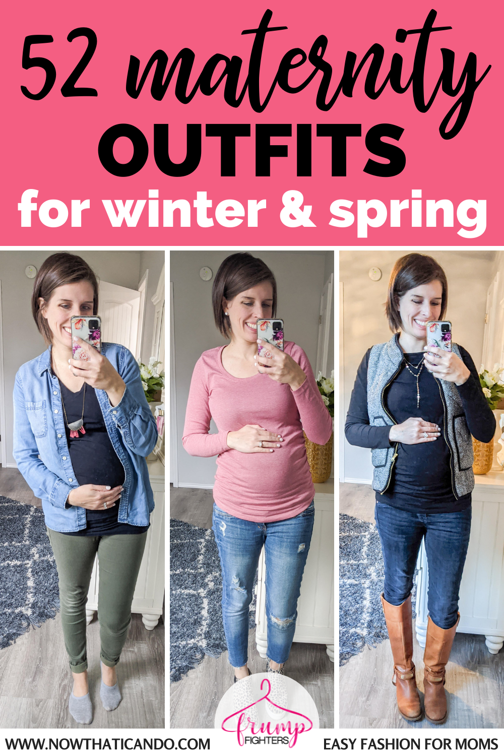 52 Pregnancy Outfits for Winter & Spring: How I Used My Maternity Capsule Wardrobe