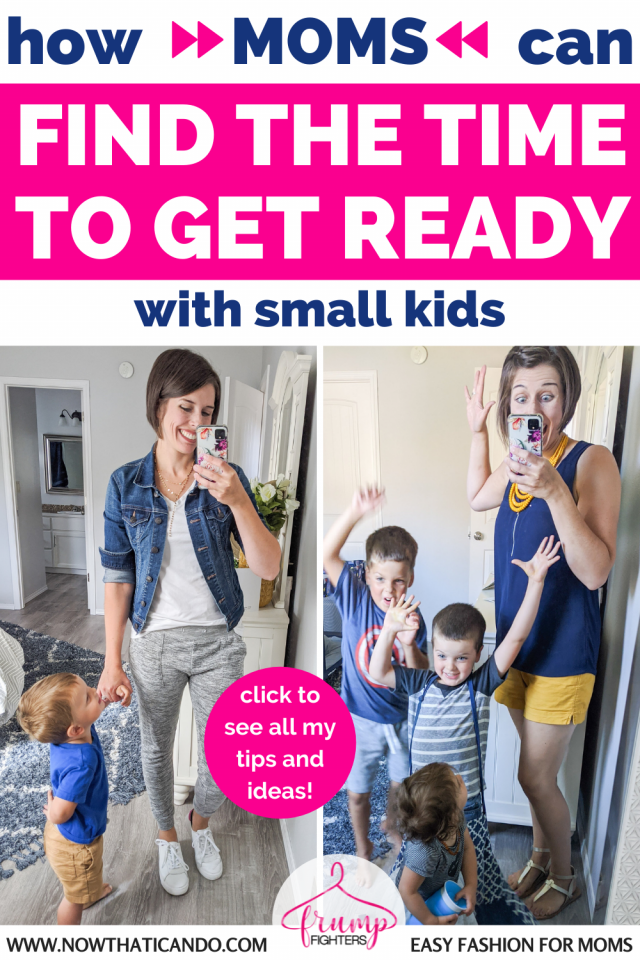 If you are struggling on how to make time for yourself as a new mom, look no further than this mom's quick system on how she gets ready for her day. #momlife #outfits #fashiontips #style #easymakeup
