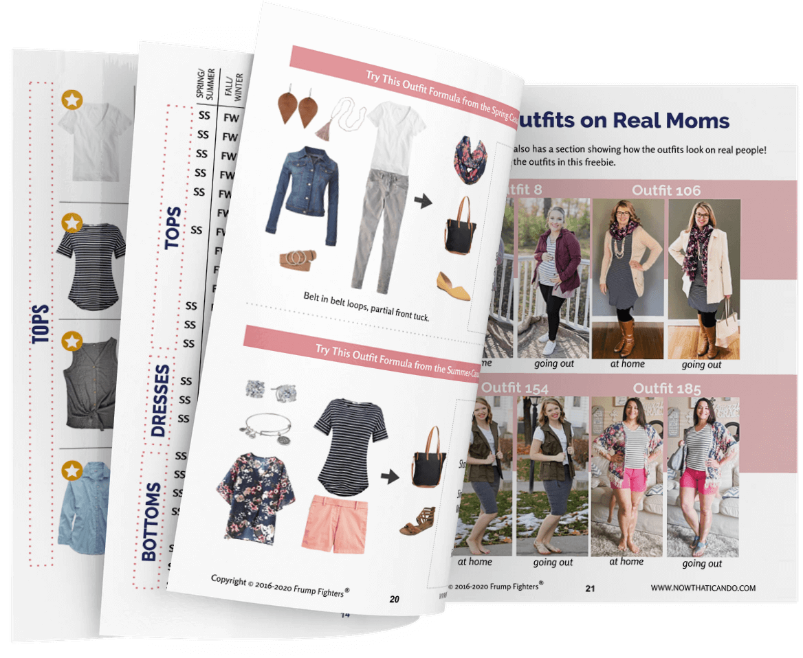 Frump Fighters Casual Capsule Wardrobe for Moms, Cute and Comfy Style & Outfit Ideas
